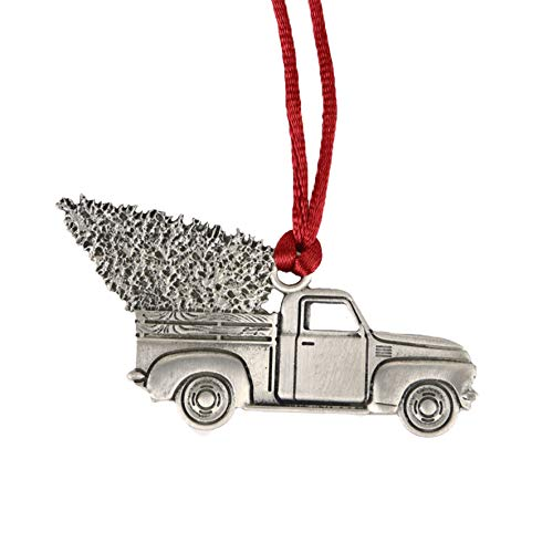 TZSSP Pewter Decorative Hanging Ornaments Holiday Christmas Ornament , Old Truck