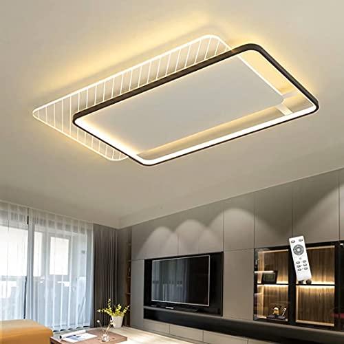 Lámpara de techo LED moderna para sala de estar, lámpara de techo de diseño regulable, iluminación de techo con control remoto, minimalista, de metal, acrílico
