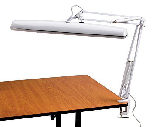 Alvin FL545-D Tri-Fluorescent Task Lamp White