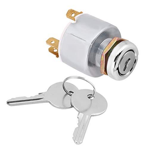 Nowear SPB501 - Interruptor de Encendido Universal para Coche, 12 V, 4 Posiciones, con 2 Llaves