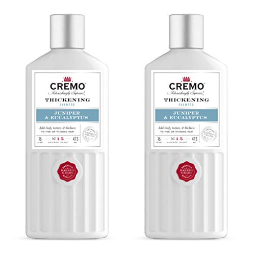 Price comparison product image Cremo Barber Grade Juniper & Eucalyptus Thickening Formula for Fine or Thinning Hair,  16 Oz (2-Pack)