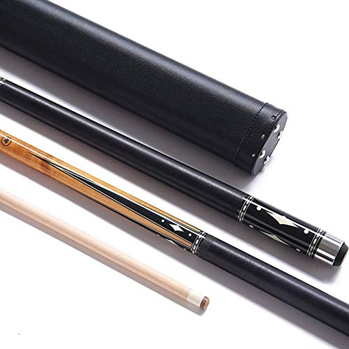WEHOLY 58 Inch 1/2 Joint Pool Cues, Handmade Maple 13mm Tip American Nine Ball Cue with Joint Protector/Shaft Protector Pool Cue