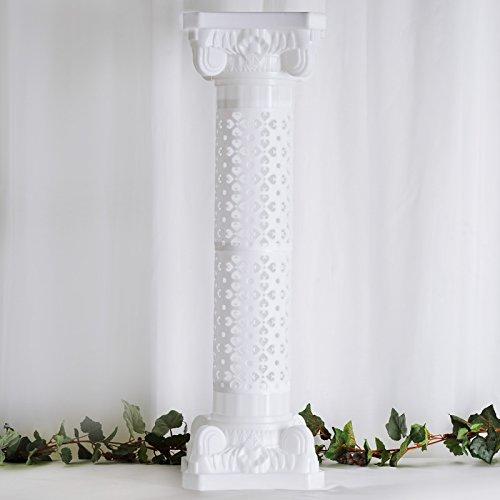 "Efavormart 4 Pillars/Set Venetian Roman Wedding Columns Holds Flower Plates 41"" Tall(Height Adjustable)"