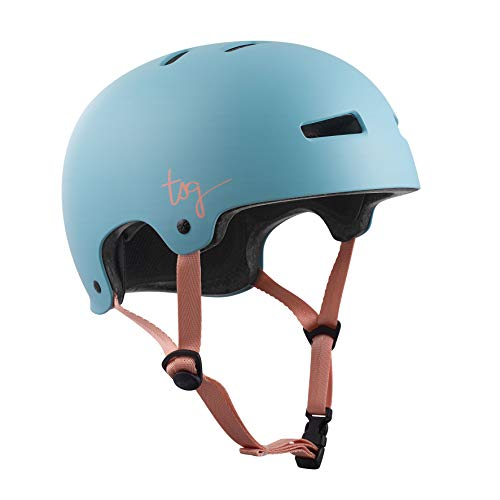 TSG Damen Evolution WMN Solid Color Helm, Satin Porcelain Blue, L/XL