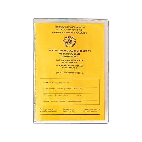 Impfpass Hülle– Hülle für Impfausweis ab 1992 und Reisepass, Schutz, Folie, 14 x 20 cm, hochwertiger Schutz, Impfbescheinigung (5 Stück)