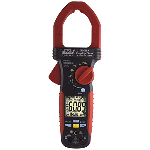 1x BM089 Digital clamp meter Ø51mm LCD 6000 I DC60/600/1000A 392g BRYMEN