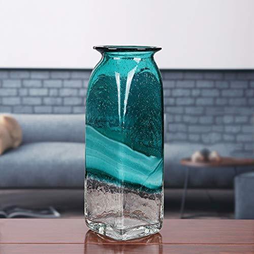 Vases LQX Modern Minimalist Colored Transparent Glass