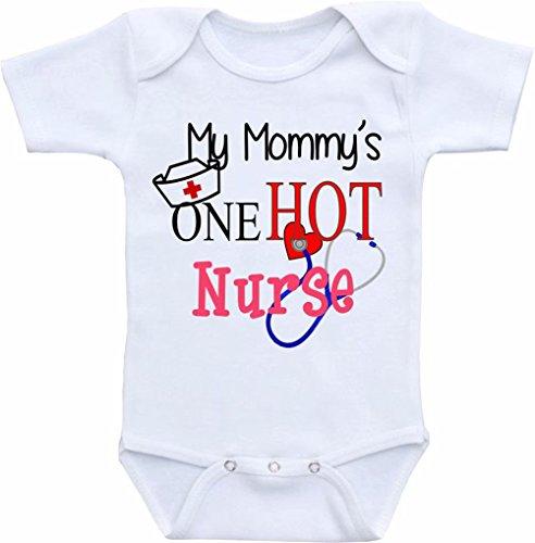 Promini Funny My Mommy is one Hot Nurse - Body de bebé de una sola pieza para bebé, el mejor regalo para bebé