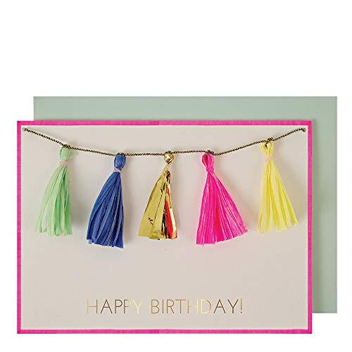 Carte d'anniversaire avec pompons - Meri Meri