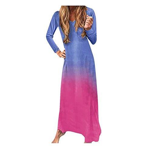 Maxi Dresses for Womens, FORUU Sleeveless Floral Printed Long Dress with Pockets Ladies Dot Printed Sundress V Neck Sexy Ruffle Short Sleeve Swing Irregular Hem Wedding Casual