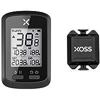 XOSS Ciclocomputador G+ GPS inalámbrico Velocímetro Impermeable Bicicleta de Carretera MTB Bicicleta Bluetooth Ant + con computadoras de Ciclismo de cadencia (Combo 1)