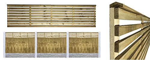 PGS Premier Vogue Contemporary Venetian Style Urban Trellis Lattice Garden Fence (183cm wide 60cm tall (6x2))