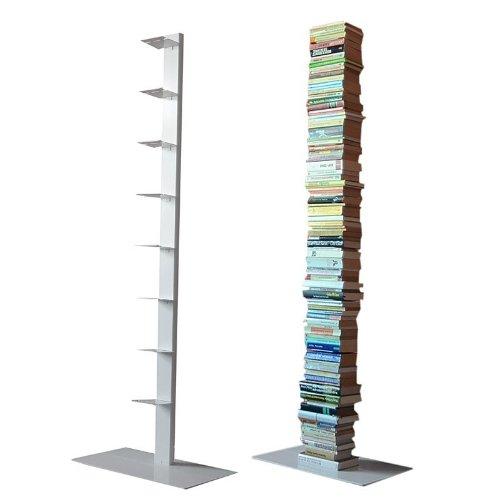 Radius Design booksbaum Single Stand Gross weiß, 3tlg. Best.aus: Halterung + Fuß + Einlegeböden [W]