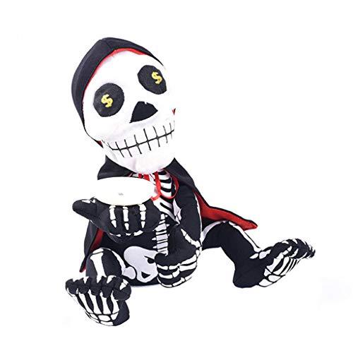 WEDFTGF - Hucha para bailar dinero mendigando, fantasma, decoracin de Halloween con monedas y canto animado para casa, oficina, interior de Halloween