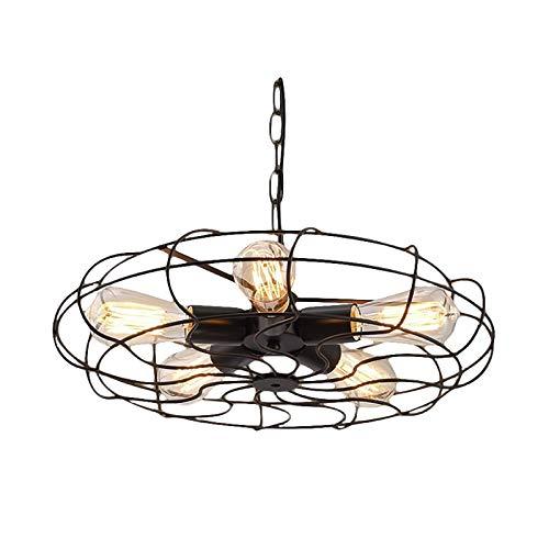 Europese wandlamp, antiek, diameter 480 mm, 5 fittingen, fitting E27, zwart, voor de huiskeuken, entree, eetkamer, bar,