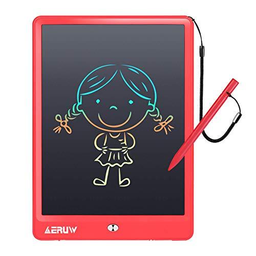 Tableta de Escritura LCD 10 Pulgadas, Tablet Escritura Pantalla LCD eWriters Infantil Tableta Grafica Dibujo Niños Adecuada para el Hogar, Escuela, Oficina, Cuaderno de Notas (Rojo)