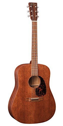 Martin Guitar D-15M with Gig Bag, Acoustic Guitar for the Working Musician, Mahogany Construction, Satin Finish, D-14 Fret, and Low Oval Neck Shape