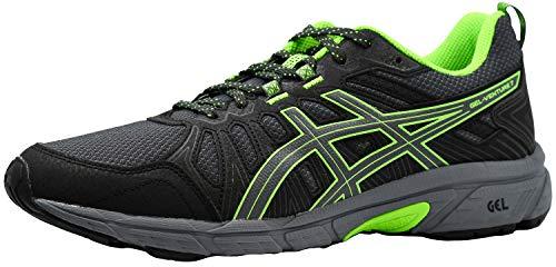 ASICS Men's Gel-Venture 7 Running Shoes, Graphite Grey/Green Gecko, 8 M US