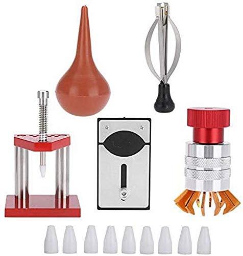 5 pièces Kit de réparation de Montre, poussière de Caoutchouc souffleur d'air Montre ouvre-boîtier arrière Outil de réglage de la Main pour Outil de réparation de Montre d'horloger