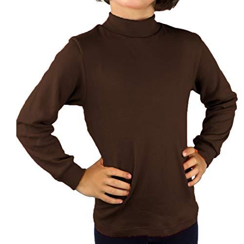KLOTTZ - Camiseta Carnaval Manga Larga niños Fabio Halloween. Polo Cuello semicisne e Interior Afelpado. Niñas Color: Marron Talla: 4