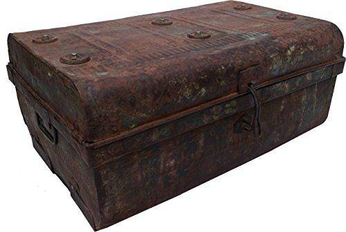 Guru-Shop Oude Tinnen Koffer Antieke Metalen Koffer - Model 14, Bruin, 27x60x41 cm, Kisten, Dozen, Koffers