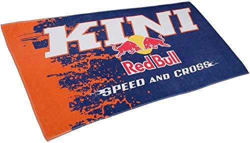 Kini Red Bull Mx Racing Towel – Mx Handtuch, Strandtuch, Sportliches Design, Baumwolle, Fitness, Sport, Motocross, Badetuch – Orange/Blue -180x90 cm