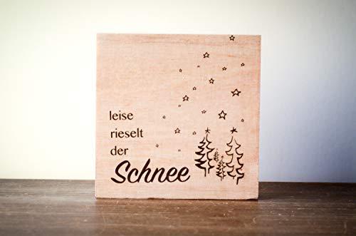 Leise rieselt der Schnee Weihnachtsdeko Weihnachten modern minimalistisch Merry Christmas Geschenk Wichteln Weihnachtsdekoration Shabby-Stil gifts gift for her handmade
