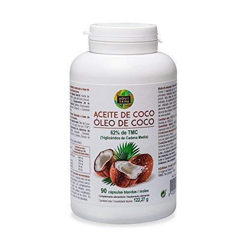 Perlas de aceite de coco con efecto...