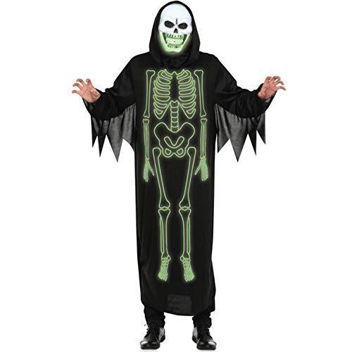 COSOER Halloween-Nachtlicht-Schädel-männlicher Geist Cosplay Kostüm Lustige Nacht Die Seelenkleidung Wandert,Luminous-M