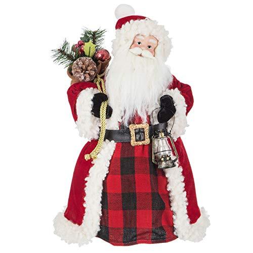 onlinepartycenter Santa Tree Topper with Lantern Christmas Tree Top Decoration Gift Keepsake