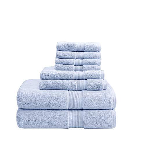 MADISON PARK SIGNATURE - Altamente absorbente, secado rápido, incluye 2 para ducha, 2 para manos y 4 para lavado facial