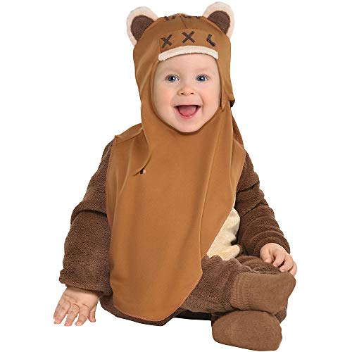 Party City Ewok Halloween Costume for Babies, Star Wars, 12-24 Months, Includes Jumpsuit and Attached Hood