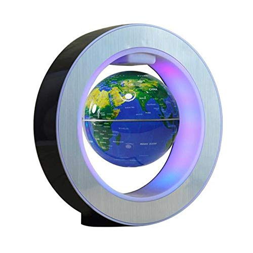 Magnetic Levitation Floating Globe with LED Light Desk Gadget Decor Globe Floating Night Light Magnetic Levitation Cool Tech Gifts for Men/Father/Husband/Boyfriend/Kids/Boss (A)