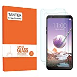 TANTEK Screen Protector for LG Stylo 4 / LG Stylus 4,6.2-Inch,Tempered Glass Film,Ultra Clear, 2-Pack