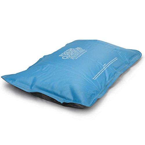 Oramics kühlendes Kopfkissen groß 52x34 cm - Komfortkissen mit Kühlfunktion für Muskelentspannung - nachfüllbares Kühlkissen Schlafhilfe bei Migräne Fieber Schwitzen - Kissenfüllung mit kühlender Wirkung