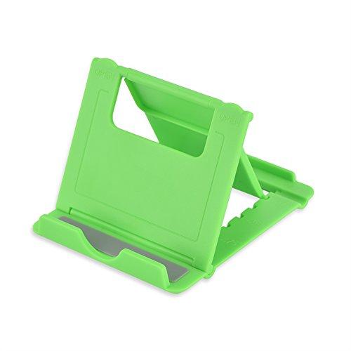 PUSOKEI Soporte para teléfono, Soporte de Escritorio Plegable portátil Ajustable con Almohadillas Antideslizantes, Compatible con teléfonos Inteligentes, tabletas(Verde)
