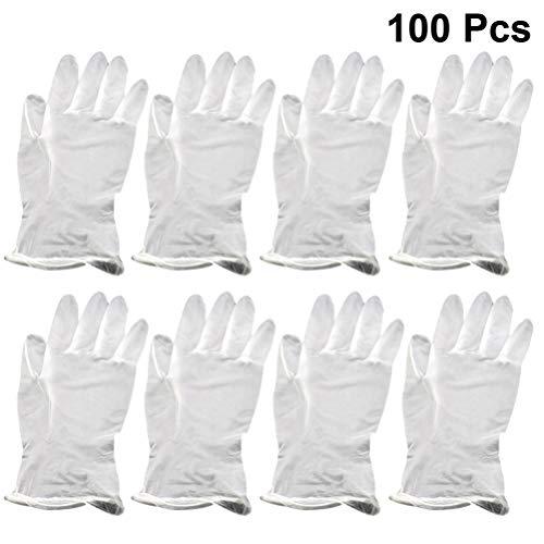 Hakka 100 stks Wegwerp Handschoenen Transparant PVC Handschoenen Dagelijks Voedsel Grade Werk Handschoenen Veiligheidshandschoenen Beschermende Wanten voor Home Restaurant