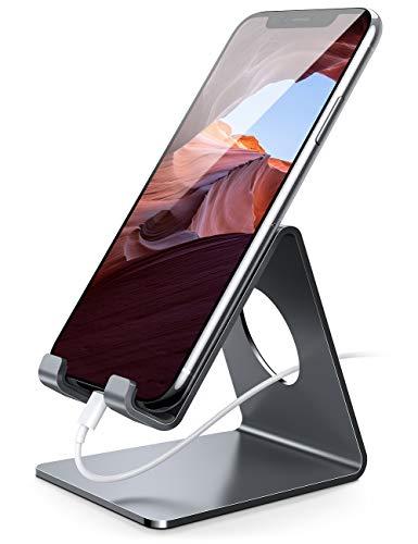 Handy Ständer, Lamicall Handy Halterung - Handyhalterung, Halter für iPhone 11 Pro, Xs Max, Xs, XR, X, 8, 7, 6 Plus, SE, 5, Samsung S10 S9 S8 S7 S6 S5, Huawei, Schreibtisch, andere Smartphone - grau
