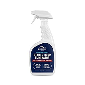 Rocco & Roxie Supply Professional Strength Stain and Odor Eliminator, Enzyme-Powered Pet Odor and Stain Remover for Dogs and Cat Urine, Spot Carpet Cleaner for Small Animal, 32 oz.