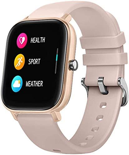 Reloj inteligente para hombre, con seguimiento de actividad física, presión arterial, reloj inteligente deportivo GTS para Xiaomi Relogio (color: rosa y oro rosa)