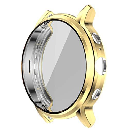 POPETPOP Smart Watch Tpu Bumper Case Capa de Armação Protetora Shell à Prova de Choque Anti Scratch Smartwatch Protetor de Tela Compatível para Gen Fóssil 5 The Carlyle Hr (Dourado)