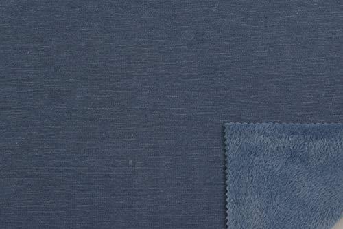 Die Stofftante Alpenfleece in Jeansblau 50x152 cm Meterware