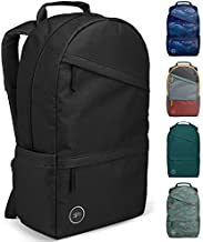 Simple Modern Legacy Backpack with Laptop Compartment Sleeve for Men Women Work School College, Midnight Black, 25 Liter