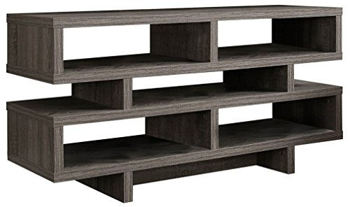 Monarch Specialties , TV Console, Dark Taupe Reclaimed-Look, 48'L