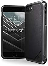Raptic Lux, Compatible with Apple iPhone SE/8/7/6, (Formerly Defense Lux) - Military Grade Drop Tested Case for Apple iiPhone SE/8/7/6 (Black Leather)