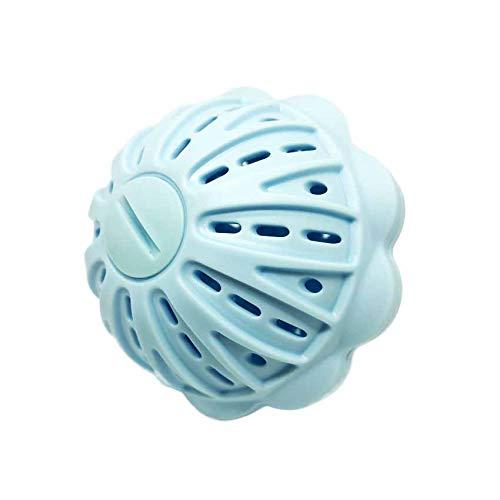 洗濯ボール ランドリーボール ウォシュボール マグネシウム 洗濯用品 洗濯グッズ ランドリー 清潔 絡み防止 洗濯 お風呂 入浴 セラミック 粒 (洗濯ボールブルー1個)