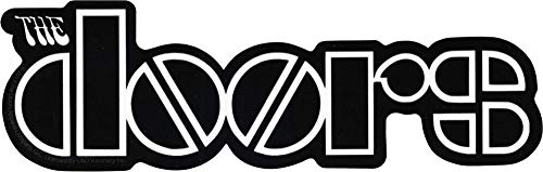 Square Deal Recordings & Supplies - The Doors - Black and White Logo - Die Cut Sticker