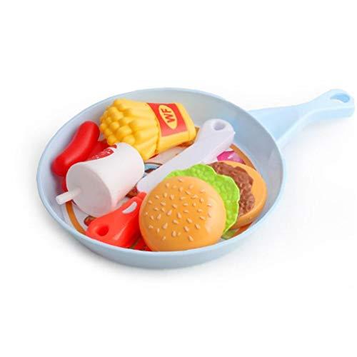 Niños Juego de Corte Juega al bebé Educación de la Primera Juguetes para niñas y niños (Estilo de la Hamburguesa) para Cocina