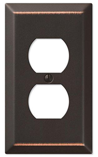 Amerelle 163DDB Century  Steel Wallplate 1 Duplex Outlet Aged Bronze