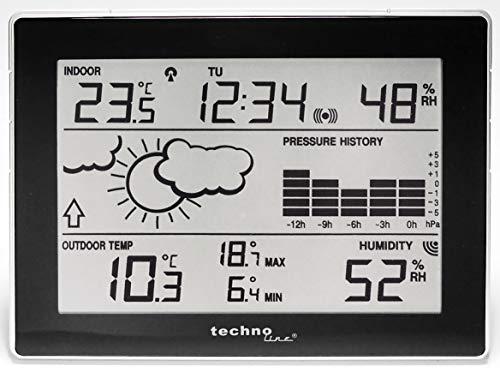 Technoline Wetterstation WS 9274-IT mit Vorhersage von Wettersituationen und Wettertendenz sowie 12h Luftdruckhistorie